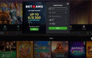 Registration at Betamo Casino