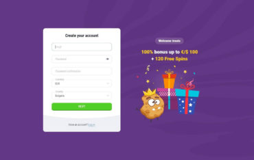 Registration at Cookie Casino