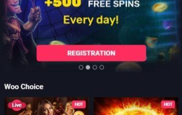 Woo Casino - Mobile Version
