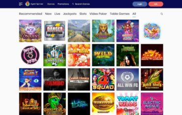 Games at AgentSpinner Casino