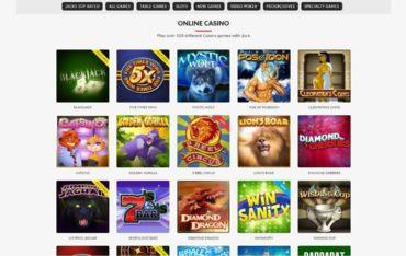 Games at JacksPay Casino