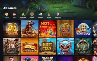 Games at Slothunter Casino