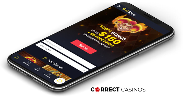 Getslots Casino - Mobile Version