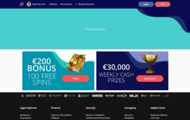 Promotions at AgentSpinner Casino