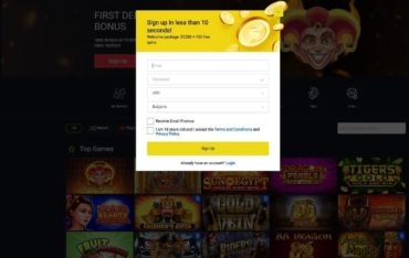 Sign Up at Getslots Casino