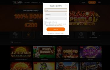 Sign Up at TeleVega Casino