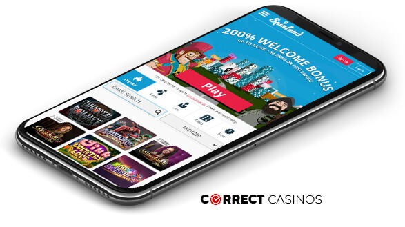 Spinland Casino - Mobile Version