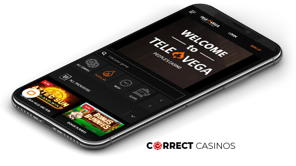 TeleVega Casino - Mobile Version