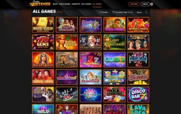 Games at Casinointense