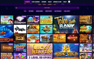 Games at Winzz Casino