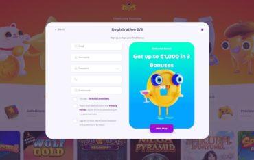 Registration at 7signs Casino
