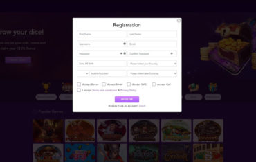 Sign Up at Better Dice Casino