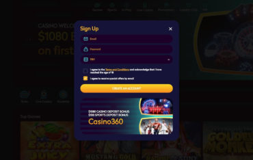 Sign up at Casino360