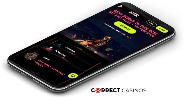 Spin Samurai Casino - Mobile Version