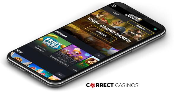 Casino Universe - Mobile Version