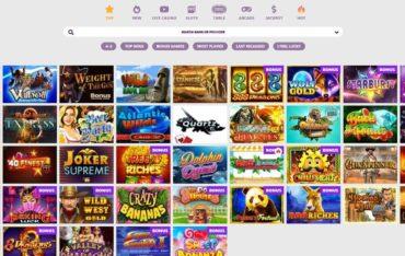 Games at Slototop Casino