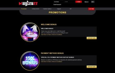Promotions at Magicazz Casino