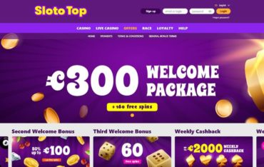 Promotions at Slototop Casino