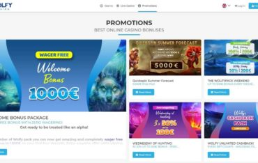 Promotions at Wolfy Casino
