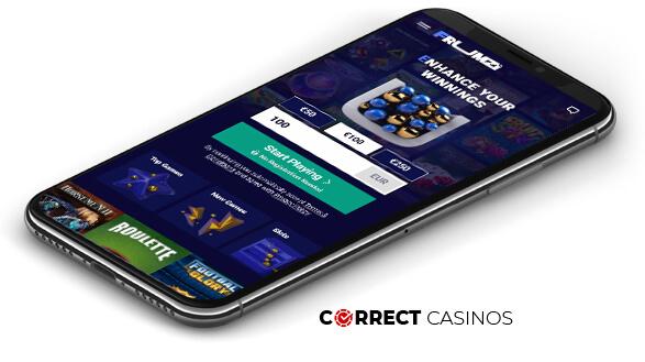 Frumzi Casino - Mobile Version