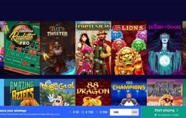 Games at Frumzi Casino