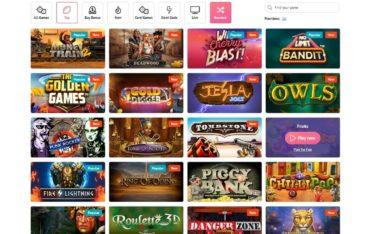 Games at Slotum Casino