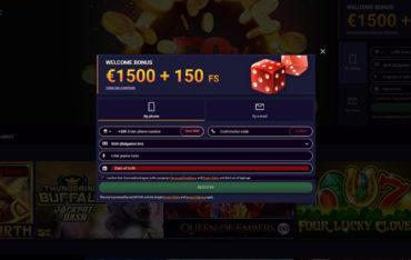 Registration at JVSpin Casino
