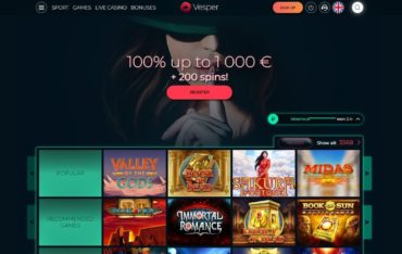 Vespercasinocom - Website Review