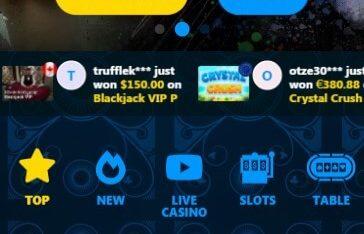 Winown Casino - Mobile Version