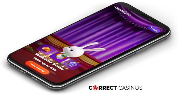 Cadabrus Casino - Mobile Version