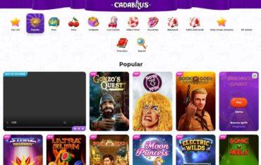 Games at Cadabrus Casino