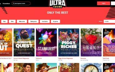 Games at Ultra Casino