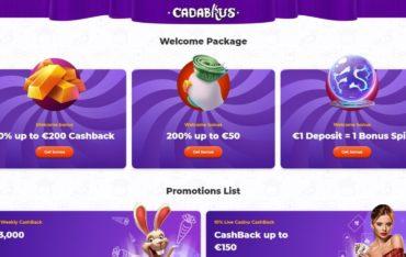 Promotions at Cadabrus Casino