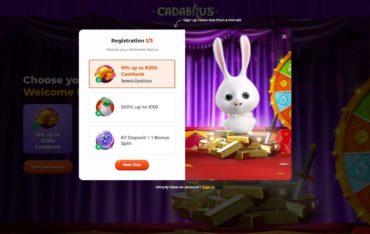 Sign Up at Cadabrus Casino