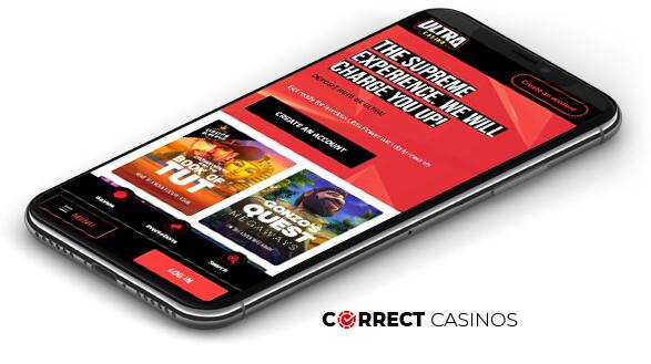 Ultra Casino - Mobile Version