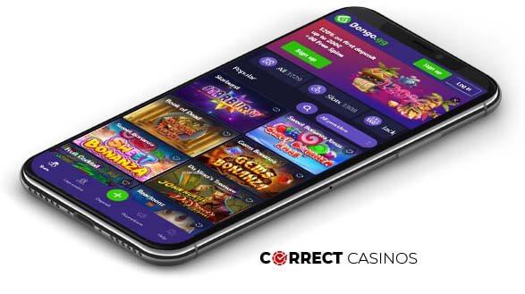 Bongo Casino - Mobile Version