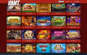 Games at Rant Casino
