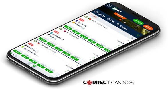 20Bet Casino - Mobile Version