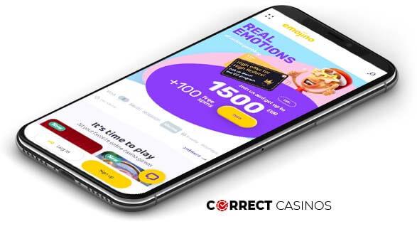 Emojino Casino - Mobile Version
