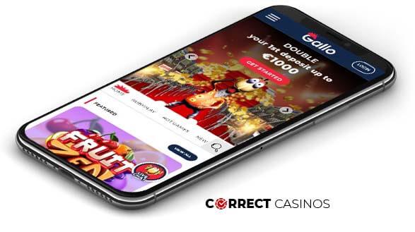 Gallo Casino - Mobile Version