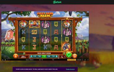 Game Play at Betinia Casino