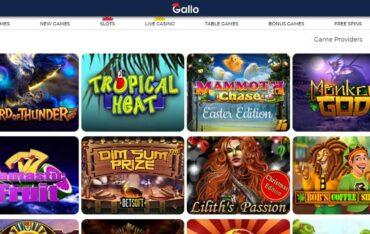 Games at Gallo Casino