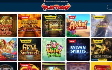 Games at Playtoro Casino