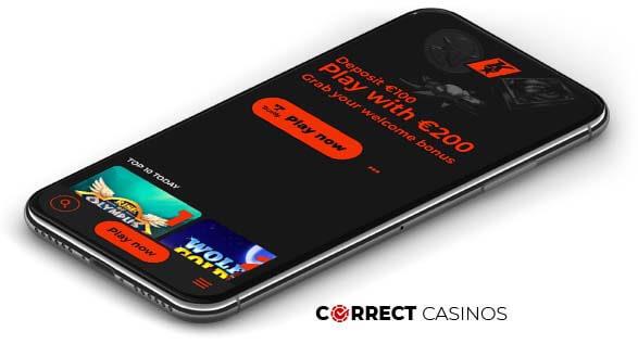 Klirr Casino - Mobile Version
