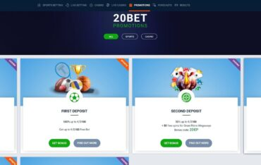 Promotions at 20Bet Casino