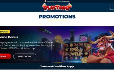 Promotions at Playtoro Casino