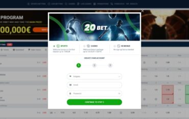 Sign Up at 20Bet Casino
