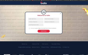 Sign Up at Gallo Casino