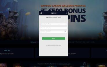 Sign Up at Griffon Casino