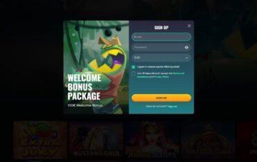 Sign Up at Roku Casino